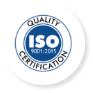 ISO 9000 Certified by AQC Middle East FZE for our high quality and rigorous processes.