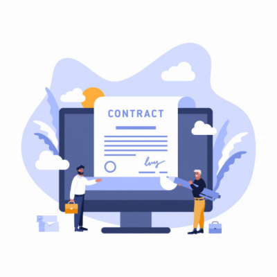 contract-sign-up-paper-document-businessman-agreement-digital-signature-tablet-computer-smart-cell-phone-web-banner-flat-illustration_188928-32